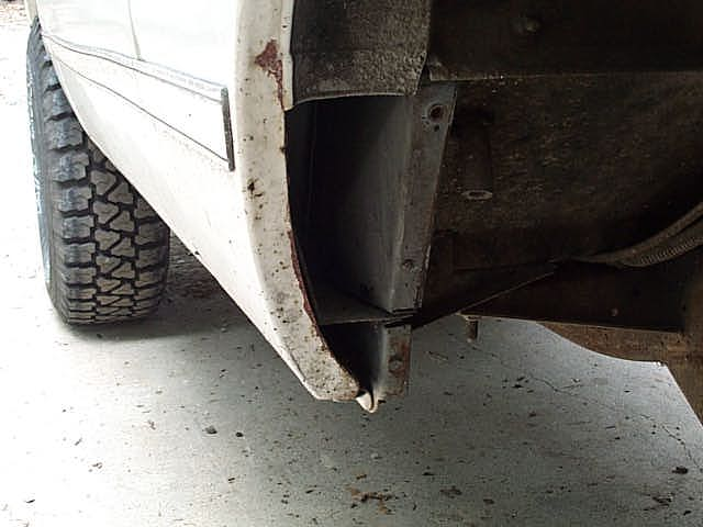 This is the access area that is left when you cut off the bottom piece of the front outer fender.